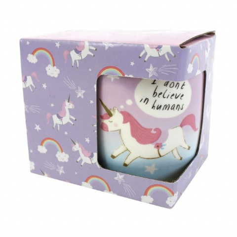 I Don't Believe In Humans Unicorn - Gift Boxed Mug